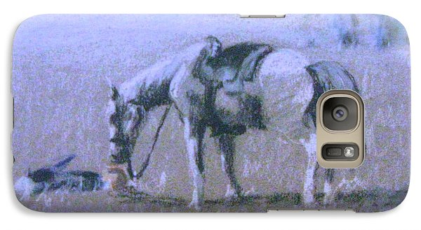 Galaxy Case featuring the pastel Loyalty by Gretchen Allen