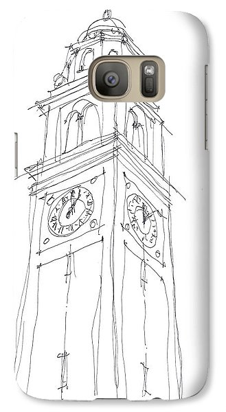 Galaxy Case featuring the drawing Lsu Bell Tower Study by Calvin Durham