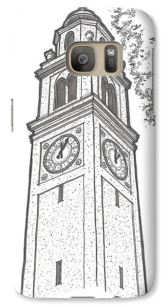 Galaxy Case featuring the drawing Lsu Memorial Bell Tower by Calvin Durham