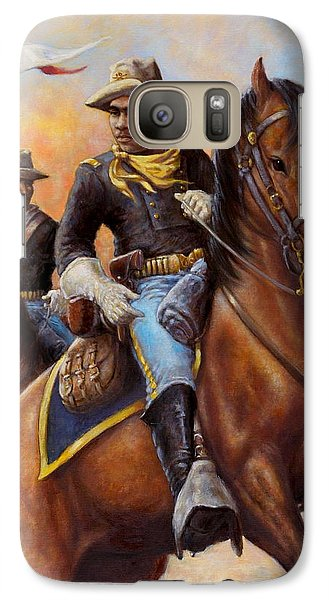 Galaxy Case featuring the painting Lt. Flipper's Command by Harvie Brown