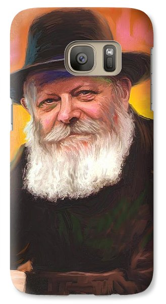 Galaxy Case featuring the painting Lubavitcher Rebbe by Sam Shacked