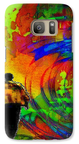Galaxy Case featuring the digital art Lucie's Lover by Mojo Mendiola