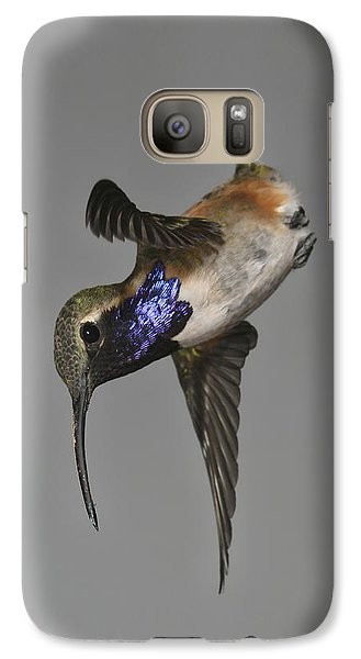 Galaxy Case featuring the photograph Lucifer Hummingbird - Phone Case Design by Gregory Scott