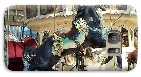 Galaxy Case featuring the photograph Lucky Black Pony - Syracuse Ptc No 18 by Barbara McDevitt