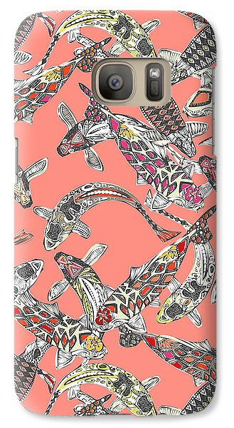 Lucky Koi Coral Galaxy Case by Sharon Turner