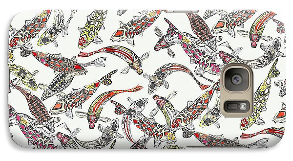 Lucky Koi Off White Galaxy Case by Sharon Turner