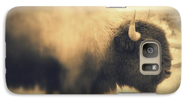 Galaxy Case featuring the photograph Lucky Yellowstone Buffalo by Lynn Sprowl