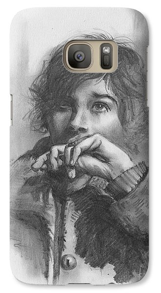Galaxy Case featuring the drawing Lucy by Paul Davenport