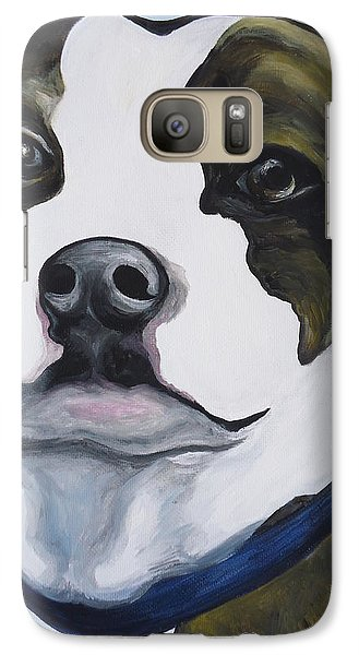 Galaxy Case featuring the painting Lugnut Portrait by Leslie Manley
