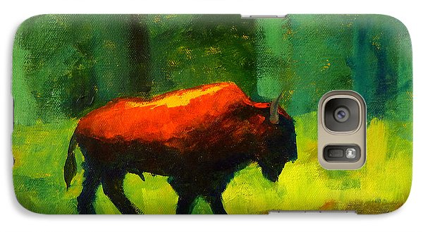 Buffalo Galaxy S7 Case - Lumbering by Nancy Merkle
