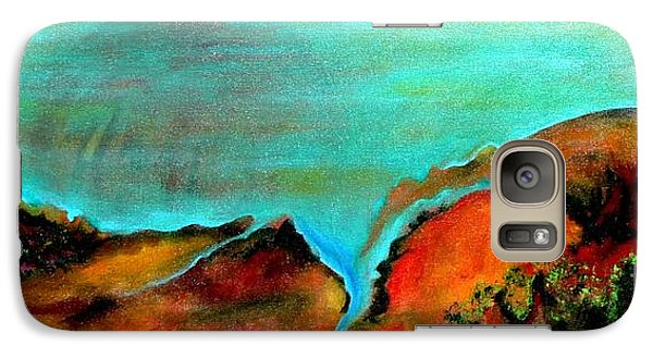 Galaxy Case featuring the painting Luminary by Elizabeth Fontaine-Barr