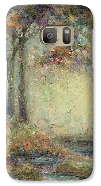 Galaxy Case featuring the painting Luminous Landscape by Mary Wolf