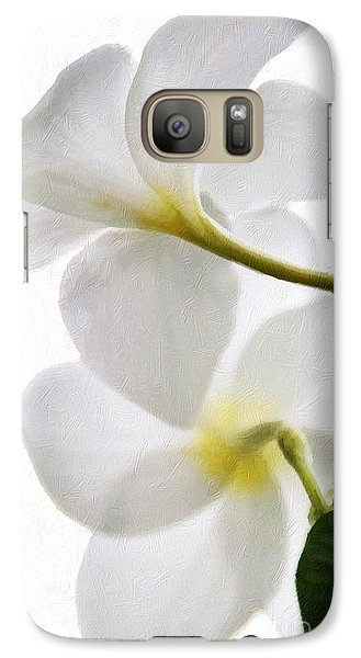 Galaxy Case featuring the photograph Luminous Plumeria by Darla Wood