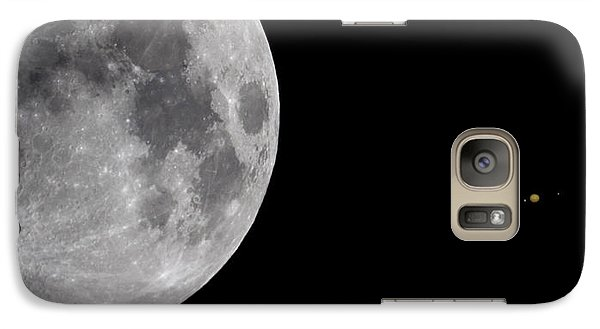 Galaxy Case featuring the photograph Luna And Jupiter by Jason Politte