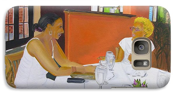 Galaxy Case featuring the painting Lunch At Olivadi's  by Barbara Hayes