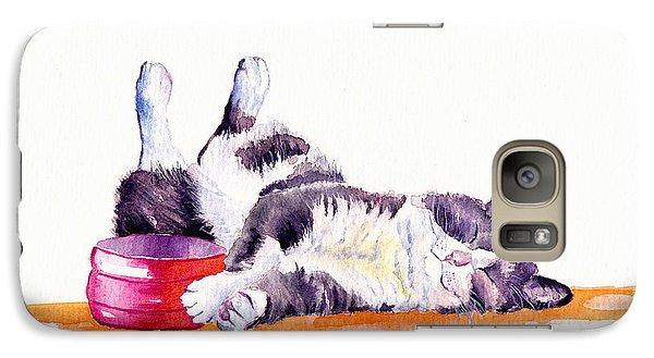 Cat Galaxy S7 Case - Lunch Break by Debra Hall
