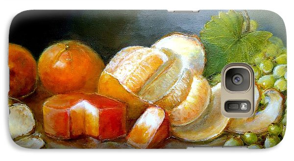Galaxy Case featuring the painting Luncheon Delight - Still Life by Bernadette Krupa