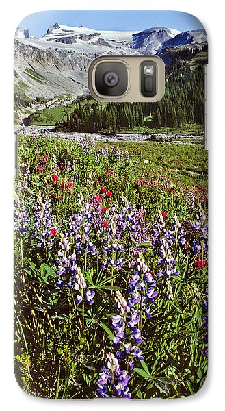Galaxy Case featuring the photograph Lupine And Paintbrush Blooming At Indian Bar by Jeff Goulden