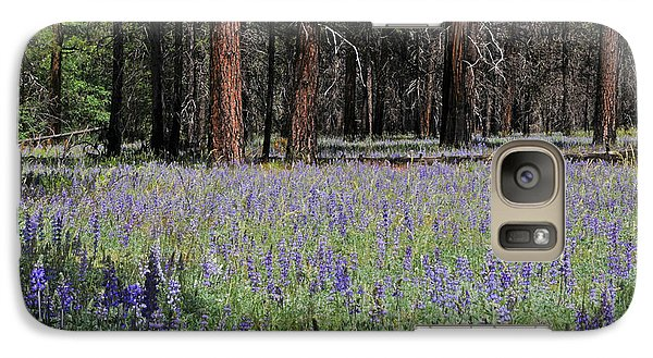 Galaxy Case featuring the photograph Lupines In Yosemite Valley by Lynn Bauer