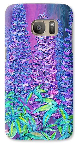 Galaxy Case featuring the mixed media Lupines by Teresa Ascone