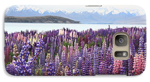 Galaxy Case featuring the photograph Lupins At Tekapo by Nareeta Martin
