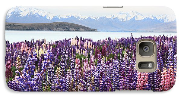 Lupins At Tekapo Galaxy S7 Case by Nareeta Martin