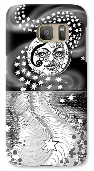Galaxy Case featuring the digital art Lure Of Moonlight by Carol Jacobs
