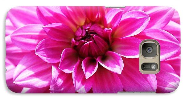 Galaxy Case featuring the photograph Lush Pink Dahlia by Judy Palkimas