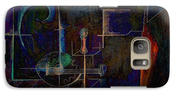 Galaxy Case featuring the digital art Lute By Night by Kim Gauge