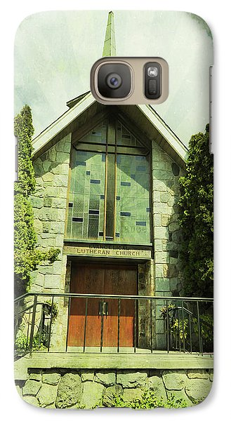 Galaxy Case featuring the photograph Lutheran Church by Laurie Tsemak