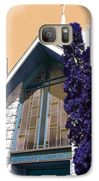 Galaxy Case featuring the photograph Lutheran Church Steeple by Laurie Tsemak