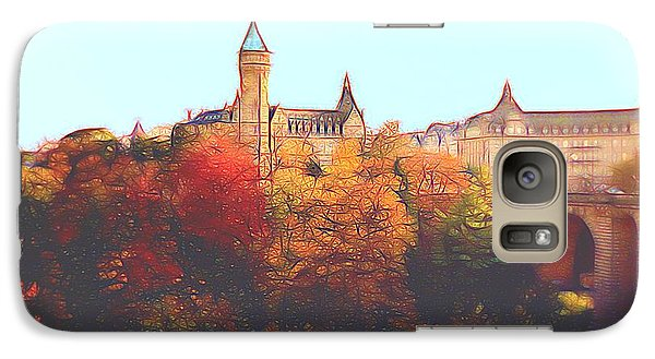 Galaxy Case featuring the digital art Luxembourg City Skyline by Dennis Lundell