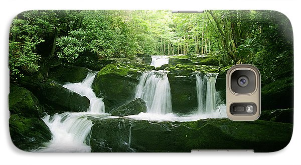 Galaxy Case featuring the painting Lynn Camp Prong Falls by Arthaven Studios Teri Atkins Brown