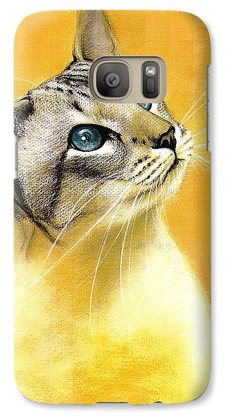 Galaxy Case featuring the drawing Lynx Point Siamese by VLee Watson