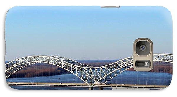Galaxy Case featuring the photograph M Bridge Memphis Tennessee by Barbara Chichester