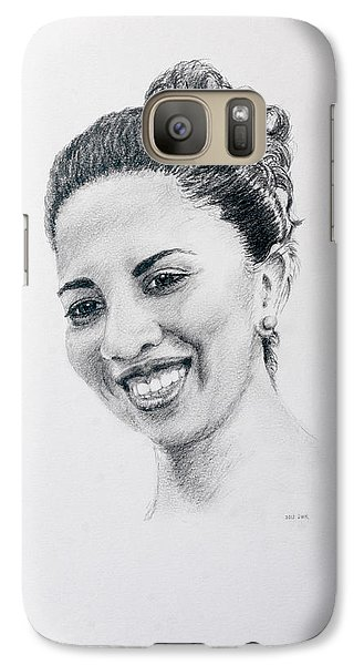 Galaxy Case featuring the drawing M by Daniel Reed