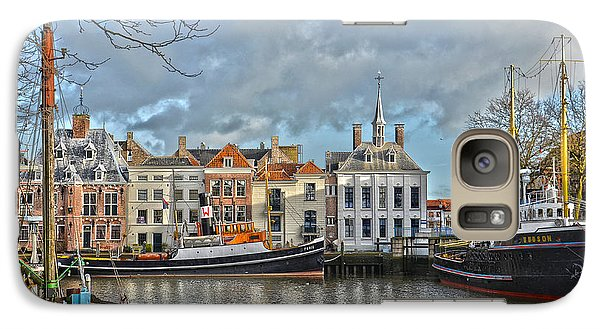 Galaxy Case featuring the photograph Maassluis Harbour by Frans Blok
