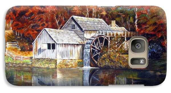 Galaxy Case featuring the painting Mabry Mill Blue Ridge Virginia by LaVonne Hand