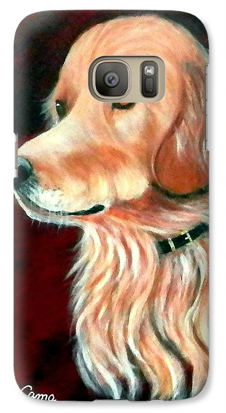 Galaxy Case featuring the painting Mac. The Golden Retriever by Fram Cama