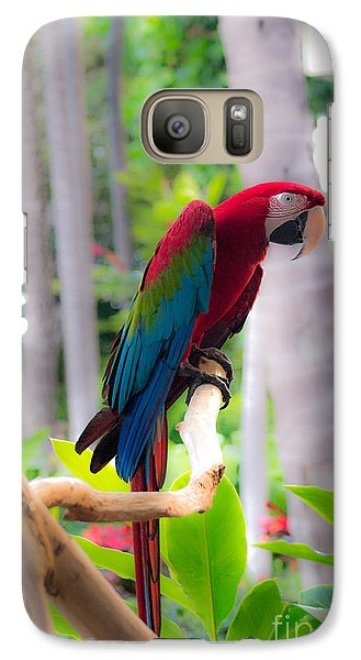Galaxy Case featuring the photograph Macaw by Angela DeFrias
