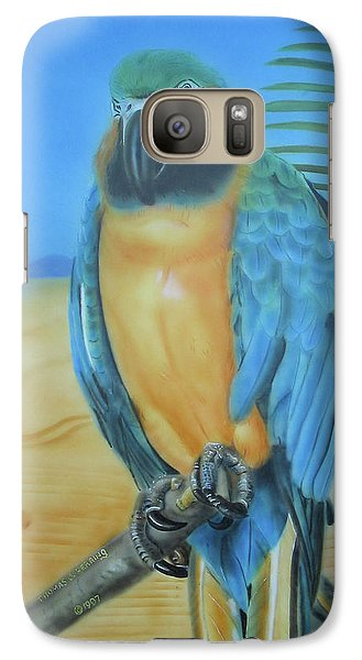 Galaxy Case featuring the painting Macaw On A Limb by Thomas J Herring