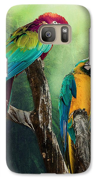 Galaxy Case featuring the photograph Macaws Siesta Time by Brian Tarr
