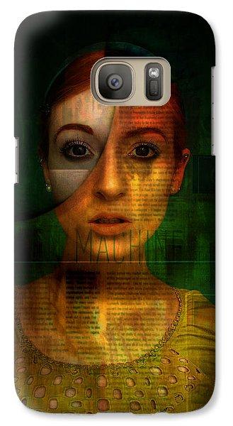 Galaxy Case featuring the digital art Machine by Kim Gauge