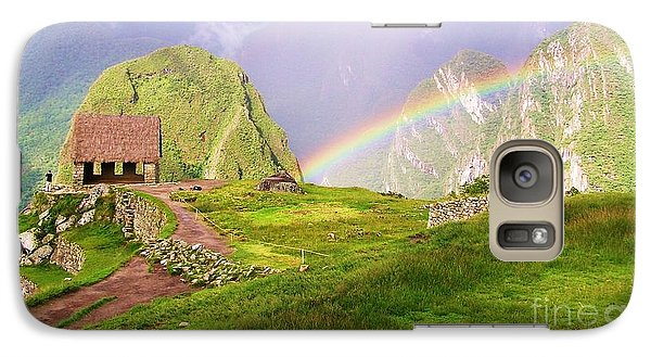 Galaxy Case featuring the photograph Machu Picchu Rainbow by Michele Penner