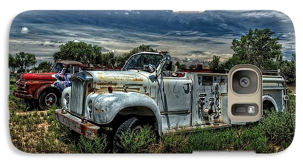 Galaxy Case featuring the photograph Mack Fire Truck by Ken Smith
