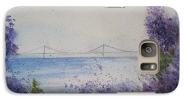 Galaxy Case featuring the painting Mackinac Island Lilacs by Sandra Strohschein