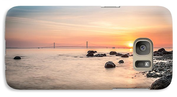 Galaxy Case featuring the photograph Mackinac Sunrise by Larry Carr