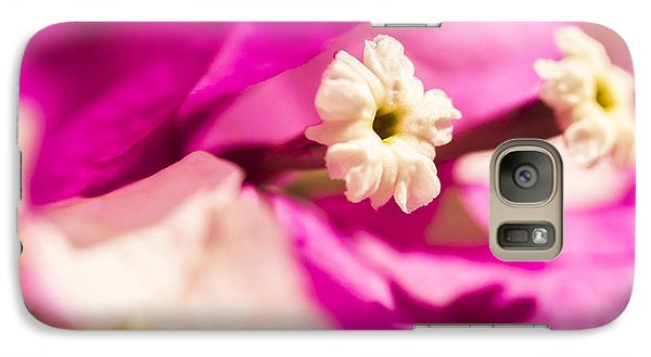 Galaxy Case featuring the photograph Macro Bougainvillea Bloom 2 by Leigh Anne Meeks