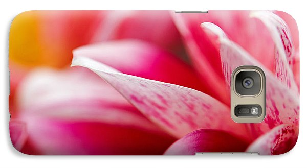 Galaxy Case featuring the photograph Macro Image Of A Pink Flower by Nick  Biemans