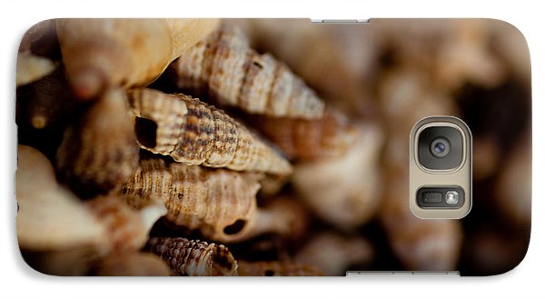 Galaxy Case featuring the photograph Macro Shells by Carole Hinding